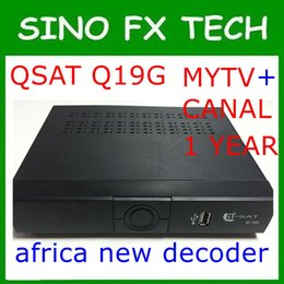 DHL Free shipping Africa mytv and canalsat receiver q-sat q19g qsat q19g decoder with two code for africa update from q28g