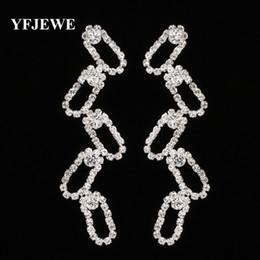 YFJEWE New Style Gold and Silver Plated Long Earrings for Wedding Bridal Accessories Gift Luxury Women Jewelry Gift Femme E292