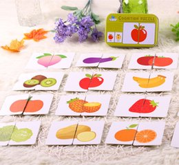 Wholesale New Arrival Baby Toys Infant Early Head Start Training Puzzle Cognitive Card Vehicl Fruit Animal Life Set Pair Puzzle Baby Gift