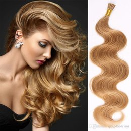 Hot selling remy human hair extensions 20pcs I Tip Hiar Extensions body wave tape in hair extensions free shipping multi color 16-22 inch