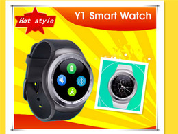Nouveaux écrans de téléphone à vendre-2017 nouvelle arrivée Y1 montres intelligentes mouvement mesure manomètre surveillance de la santé adultes business circle montre montre montre téléphone