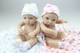 Wholesale MINI Simulation Twin Doll Cute Sweet Little Baby Silicone Vinyl Babydoll Babies Sleeping Toys