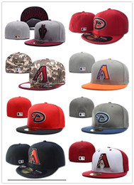 Wholesale Hot Fashion hip hop Men s AZ baseball sport team hats digital camouflage full closed design Arizona Diamondbacks fitted caps