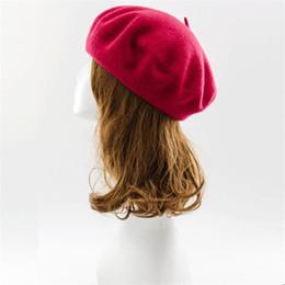 Vente en gros-Nouvelles femmes d'hiver Hat Bérets laine Vintage Caps pillbox hat planas Chapeaux Bonnet Bonnets en laine YLL806 beanie vintage on sale à partir de bonnet cru fournisseurs