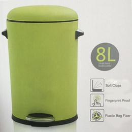 Wholesale Luxury mute trash flip pedal home Caigang process living room bedroom health barrels