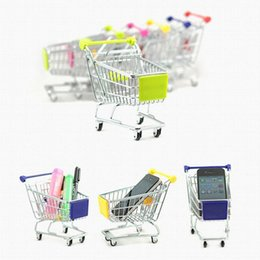 Wholesale 2017 Mini Supermarket Handcart Shopping Utility Cart Mode Storage Basket Desk Toy New Collection Free DHL XL T34