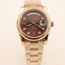 Wholesale - fashion brand Day Date Watch full yellow gold Timeless Luxury Watches Automatic watches men sapphire glass men's dress watches