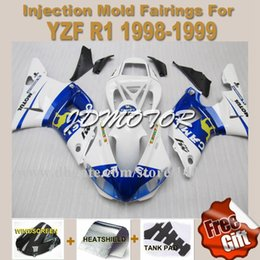 Abs injection Kits de carénage 100% adapté pour YAMAHA YZF R1 1998 1999 YZF R1 98 99 YZFR1 1998 1999 98 99 carénages blancs # i3c65 à partir de fabricateur
