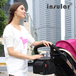 Wholesale Thermal Insulation Baby Diaper Bags Multifunctional Stroller Bag Organizer Mommy Bag