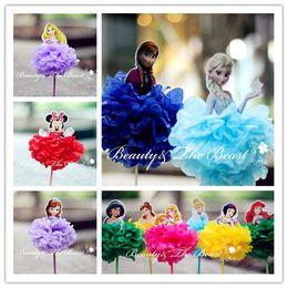 Wholesale-7.2 '' Sofía Elsa Anna Princesa Minnie Cupcake Toppers Decoraciones de la fiesta de cumpleaños Los niños de la fiesta de bienvenida al bebé de la barra de caramelo suministra 1pc desde magdalena de bienvenida al bebé de la princesa fabricantes