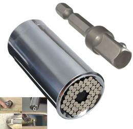 Repara coches en Línea-Gator Grip Multi Función Ratchet Universal Socket 7-19mm Power Drill Adaptor Car Herramientas De Mano Herramientas De Reparación LLFA