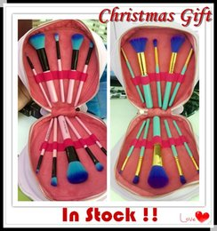 Wholesale Christmas gift in Stock Spectrum Brushes Mermaid Dreams Piece Vegan Brush Set Glam Clam Case Vegan Brush Set Christmas gift
