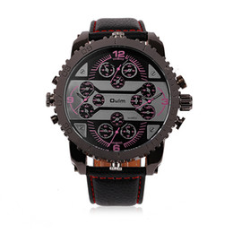 2017 new personality and creative quartz four - core men watch luxury watch multi-time zone free delivery