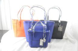 Toile grand sac à main à vendre-BIG PROMOTION-free Shipping - bonne qualité femmes 2016 pvc couleur solide seau lettre sac à main sac à main