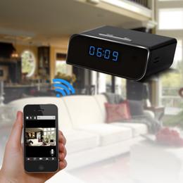 2017 ip ios came HD 1080P horloge WIFI caméra cachée caméra cachée Nanny cam sans fil P2P caméras de sécurité IP soutien IOS / Android PC iPad vidéo et enregistreur audio abordable ip ios came