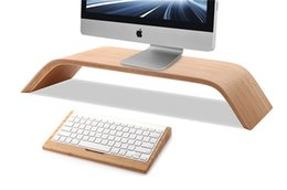 SamDi Wood Monitor Screen Desktop Stand Holder Shelf For iMac Computer Laptop
