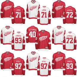 Wholesale Detroit Red Wings Jersey Men s Henrik Zetterberg Dylan Larkin Andreas Athanasiou Johan Franzen Joe Vitale Hockey Jerseys
