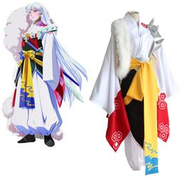 Sesshoumaru cosplay costumes Japanese anime Inuyasha clothing Masquerade Mardi Gras Carnival costumes full set