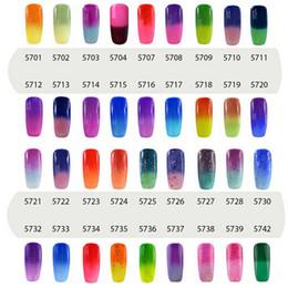 Wholesale Elite99 ml Temperature Change Chameleon Changing Color Soak off UV Nail Gel Polish UV Gel Choose From Color