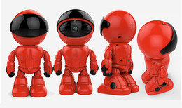 Promotion ip ios came 50PCS Maxde 2017 Nouveau Wireless Red Robot WIFI Caméra IP P2P CCTV Cam Baby Monitor Surveillance HD H.264 Objectif IR pour Android iOS