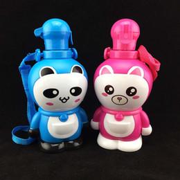 Wholesale ML Baby Drinking Bottles For Kids Cartoon Straw Water Bottle Cute Shaker Drink Bottle Bouteille Gourde