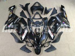 Wholesale hot sales New TOP ABS Motorcycle bike Fairing kits Fit for KAWASAKI Ninja ZX6R ZX6R bodywork set nice black style
