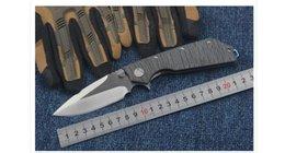 Descuento bolas de rodamiento WEDGE 2017 2 tipos Microtech cuchillo de aleta de rodamiento de bolas Marfione Custome DOC plegable 100% D2 cuchilla EDC TC4 aleación de titanio mango AKC cuchillos
