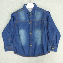 2017 Spring Boys Denim Shirt Long Sleeves T-shirt Children Clothes New Summer Cotton 100% T-shirts Korean Style 2y-6y Kids Shirt