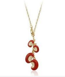 Acacia red bean pendant lady's nekclace (xysppfh)