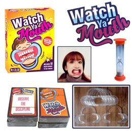 Wholesale New Watch Ya Mouth Intéressant Partie Jeu Edition Familiale Hilaire Meilleur Jeu de société de vente Convient pour les adultes et les enfants PPA676
