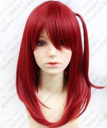 High Quality Fashion Picture full lace wigs >Hot! Magi The labyrinth of magic Morgiana Wine Red Cosplay Wig Free shipping