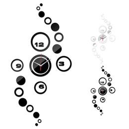 venta al por mayorhogar saln reloj de pared d diy crculo patrn relojes moderno espejo relojes de arte diseo