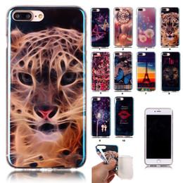 Promotion téléphones cellulaires concepteur 2017 Étuis de téléphone cellulaire Hotsale pour iPhone 7 Plus 6 6S Samsung S5 S6 Ultra fin cristal Transparent Designer Soft TPU en silicone Housse en vrac