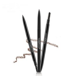 Wholesale Genuine The Hot Shop Small Double Headed Eyebrow Pen Waterproof And Perspiration Lasting Easy Tuozhuang Eyebrow Enhancers