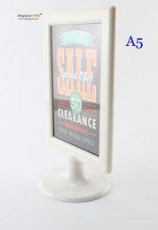 Wholesale 20 A5 Name Drink List card sign poster holder plastic label frame display stand menu POP price holder desktop tabel tablet