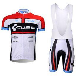 Equipo de CUBO Camisetas de ciclismo de verano Ropa Ciclismo Ropa de bicicleta transpirable Ropa de bicicleta de secado rápido Ropa Ciclismo GEL Pad Bike Bib Shorts desde baberos ciclismo cubo fabricantes
