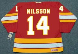 Wholesale KENT NILSSON Calgary Flames CCM Vintage Throwback Ice Hockey Jersey Mixed Orders Stitched Top Quality