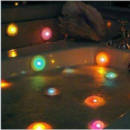 Wholesale Pool LED Night Light Bubble Lights Colorful Floating Bath Lamp Bathtub Lamp Bath Pool Light Changing Color Spa Light Christmas Day Gift