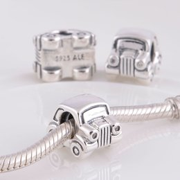 Wholesale Sale Genuine S925 Sterling Silver Beads Car Charms fit European pandora Bracelets ALE