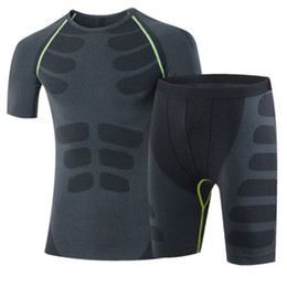 2017 New Mens Dry Fit Compression Baselayer T Shirts and Shorts for Gym and Running Free Shipping