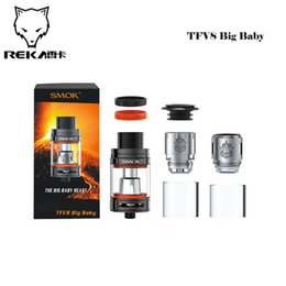 Wholesale 100 Original Smok TFV8 Big Baby Tank ml Top Refill TFV8 Big Baby Cloud Beast Atomizer Re designed Bottom Pair air slots
