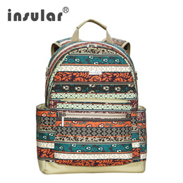 Wholesale Fashion Canvas Material Multifunctional Baby Dipaer Bag Backpack