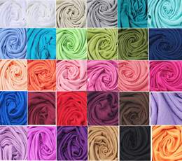 DHL free shipping wholesale 40pcs Pashmina Cashmere Silk Solid Shawl Wrap Unisex Scarf Women's Scarf Pure 40 Color Scarf