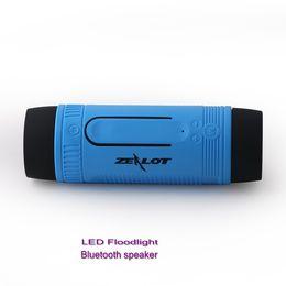 Zealot S1 Bluetooth Outdoor Bicycle Speaker Portable Subwoofer Bass Speakers 4000mAh Power Bank+LED light +Bike Mount+Carabiner