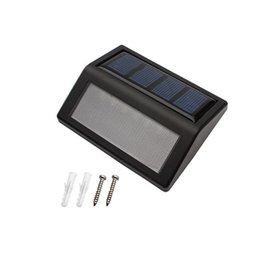 Wholesale Solar Powered Step Lights Automatically Light Led Solar Panels Lamp Outdoor Waterproof Garden Path Patio Gutter Fence Lighting