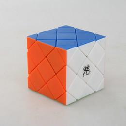 Descuento dayan juguete Venta al por mayor Dayan Master Skewb Stickerless / Negro / blanco Puzzle Cubo Magico Educación Juguete regalo Idea Envío Gratis Drop Shipping
