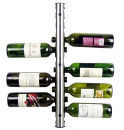 Bastidores de almacenamiento de vino en Línea-Inicio Barra de Parede Uva Botella de Vino Display Stand Rack Suspensión Organizador de Almacenaje Montado en la pared Wine Racks