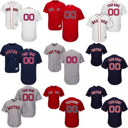 2016 Flexbase Custom boston red sox men's shirts Authentic Personalized Double cool base Stitched Onfield Baseball Jersey SIZE S-4XL