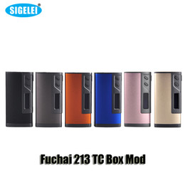 Wholesale 100 Original Sigelei Fuchai TC Box Mod VW W Dual battery Mod with inch OLED Screen