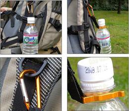 Promotion bouteilles d'eau mousqueton Bouteille d'eau Boucle Soutien-gorge de crochet Clip pour sport extérieur Randonnée pédestre Outils de voyage de survie Camping Carabiner
